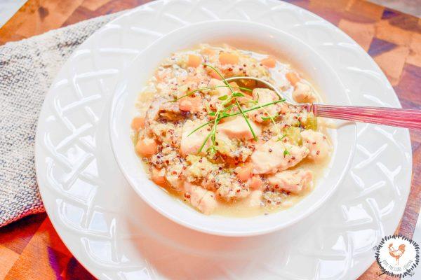 EASY INSTA POT Chicken & Quinoa SOUP