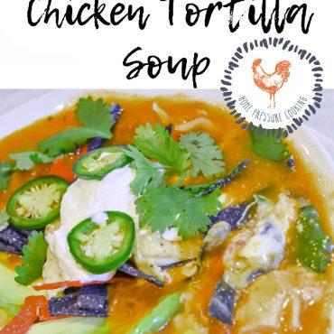 EASY Chicken Tortilla SOUP JENRON DESIGNS