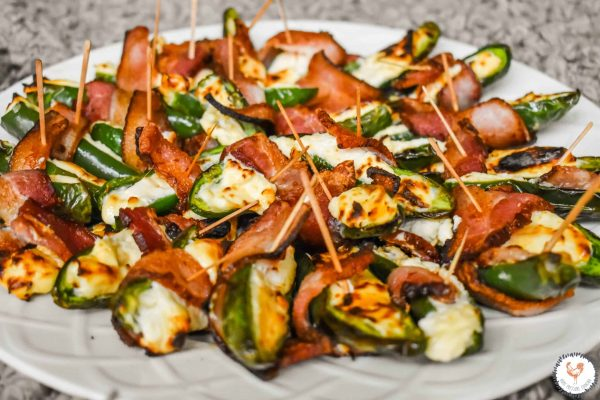 Bacon wrapped Jalapeno peppers in the Ninja Foodi
