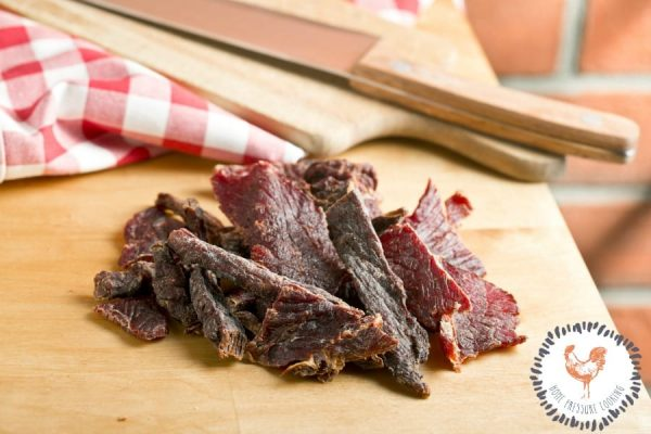 Beef jerky made in the Ninja Foodi