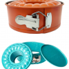 The insta-pan in both orange and blue color variations.