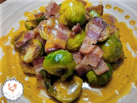 Bacon and Rosemary Brussels Sprouts