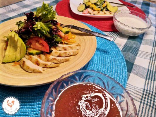 Photo showing finished salad dressing recipe