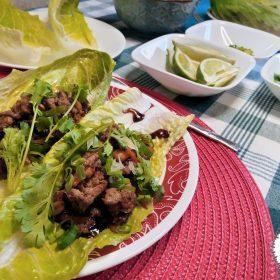 Asian Style chili lettuce wraps