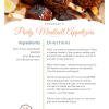 A recipe for Party Meatball Appetizers made in a pressure cooker.