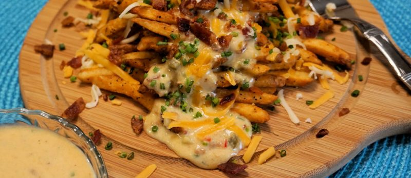 cheese fries close up