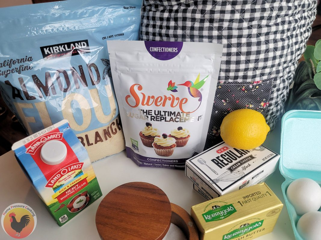 photo of keto cheesecake ingredients