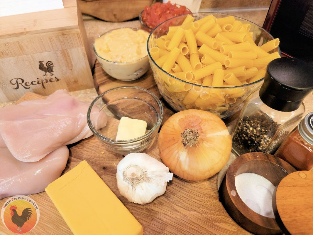 ingredients for Cheesy Chicken Pasta